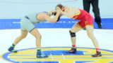 182 lbs. Colbey Harlan (Oakdale) vs Sam Loera (Bakersfield)
