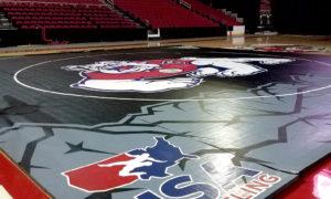 Fresno State Wrestling Mat